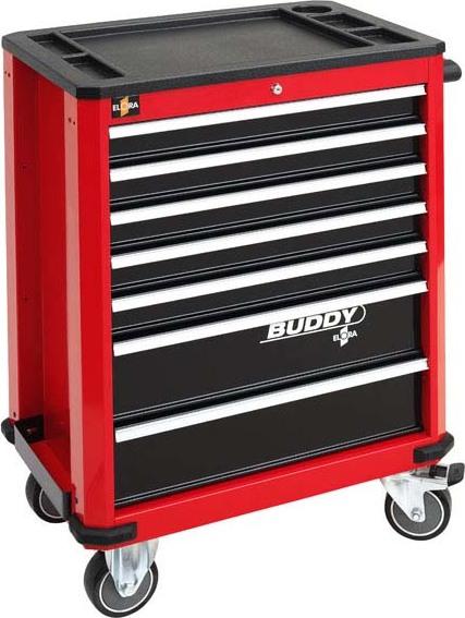 Werkzeugwagen Buddy, rot, leer, Elora-1210-lrot