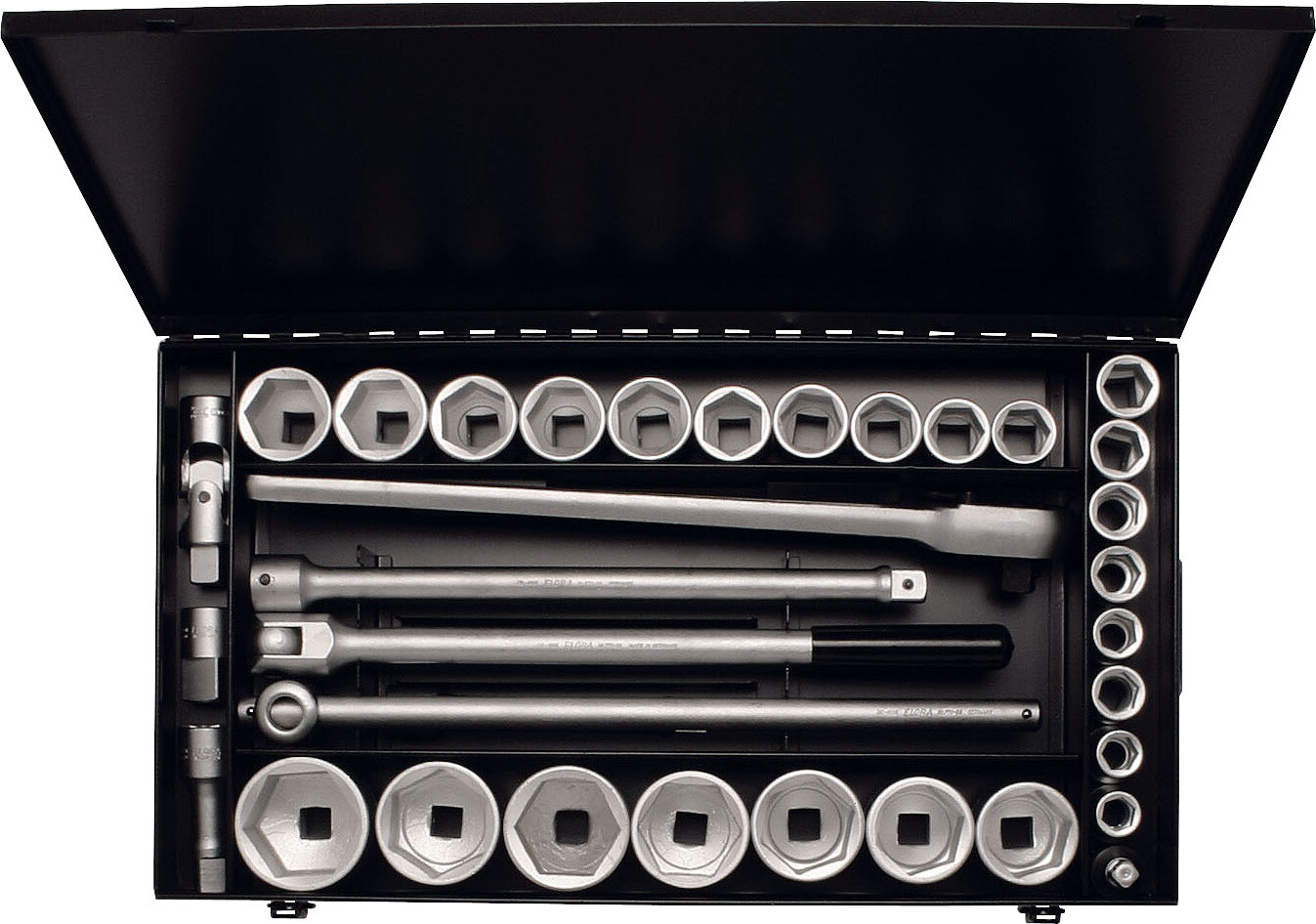 "ELORA Socket Set 3/4"", hexagon, 34-pcs. 18-60 mm, ELORA-771-S24/1 MZ"