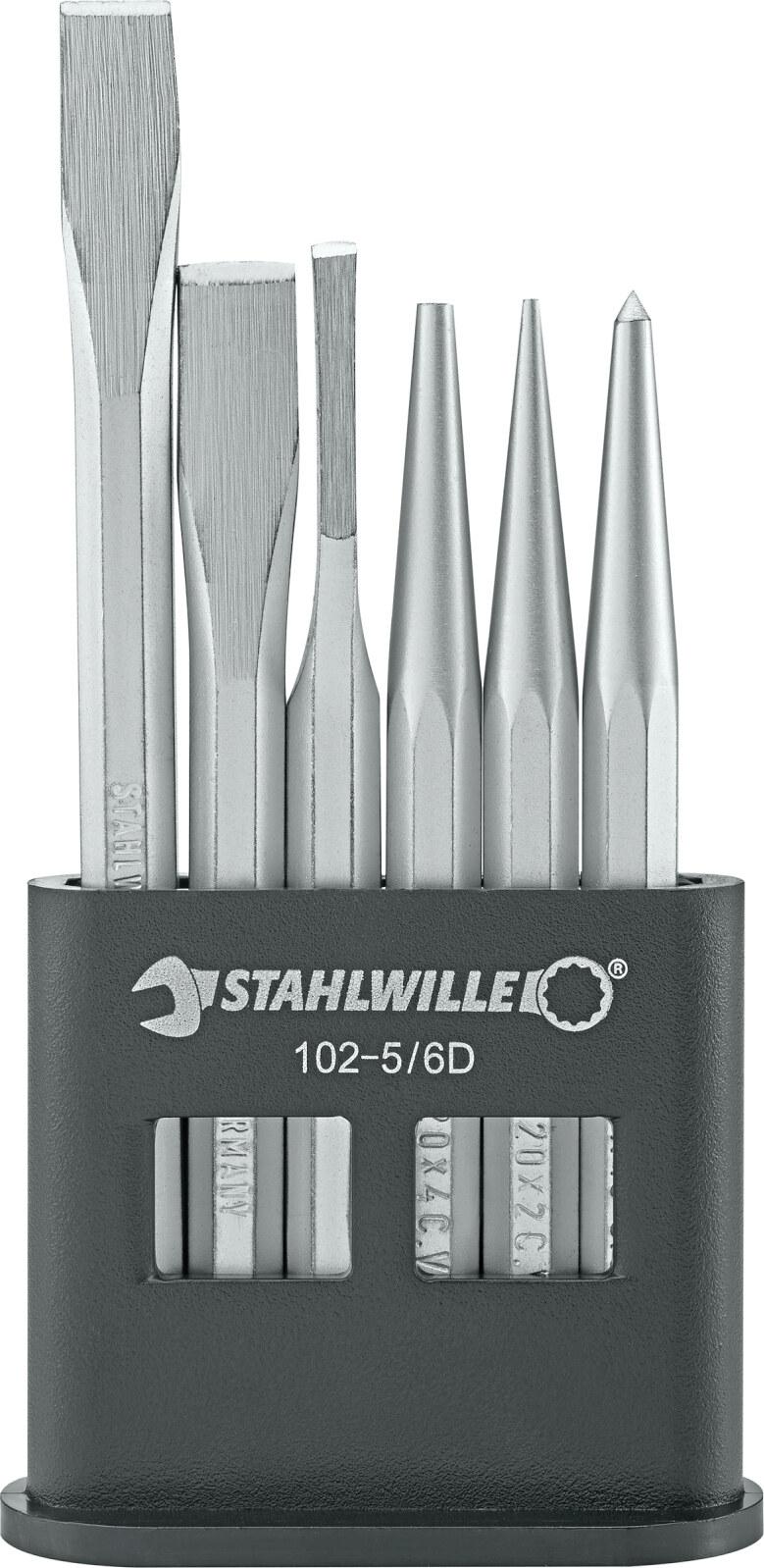 und Durchtreiber-Satz in Kunststoffständer Stahlwille 102-5//6 D Meißel
