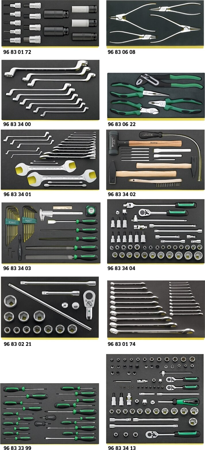 Stahlwille Tool set for Mercedes-Benz HGVs No.3022 TCS 264-pcs.