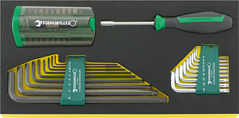 Stahlwille Offset screwdrivers i.TCS inlay No.TCS 1201/4000/10766/38 1/3 38-pcs.